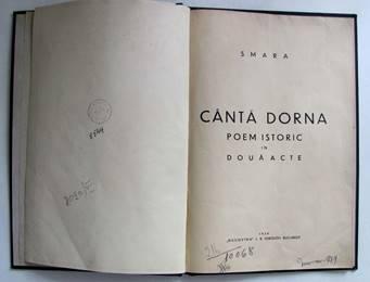 SMARA - CÂNTĂ DORNA POEM ISTORIC ÎN DOUĂ ACTE 1939