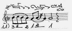 - cadence level = di - 1 - Suceveanu
