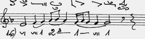 - cadence level = di - 3