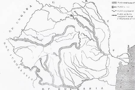 Harta râurilor din România pe care, potrivit autorilor, în secolele XVIII și  XIX s-a practicat plutăritul sub cele două forme: sălbatic şi dirijat.