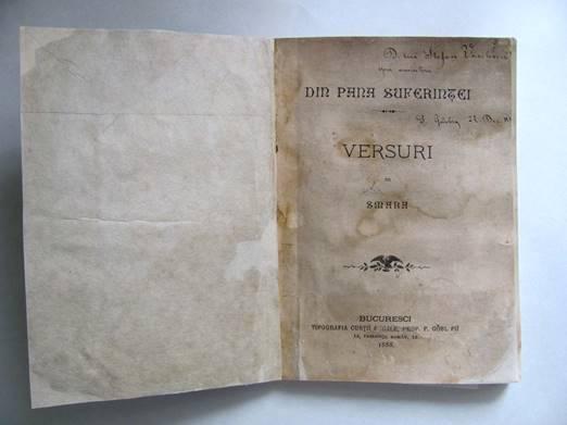 VERSURI SMARA DIN PANA SUFERINŢEI BUCUREŞTI, 1888